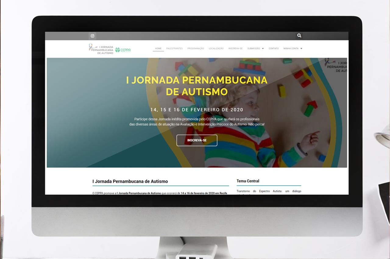 Site Jornada Pernambucana de Autismo